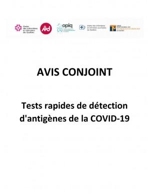 Avis Conjoint Test Rapides