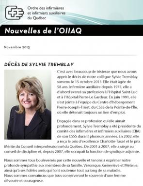Bulletin Novembre 2013